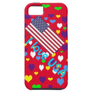 Amo los E E U U iPhone 5 Case-Mate Carcasa