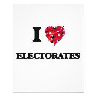 Amo los ELECTORADOS Folleto 11,4 X 14,2 Cm