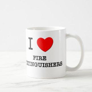 Amo los extintores taza de café