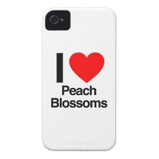 Amo los flores del melocotón iPhone 4 Case-Mate cobertura
