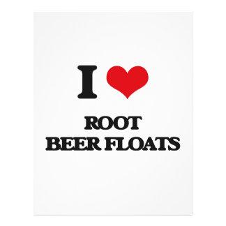 Amo los flotadores de cerveza de raíz folleto 21,6 x 28 cm