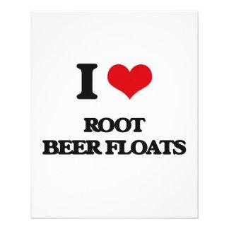 Amo los flotadores de cerveza de raíz folleto 11,4 x 14,2 cm