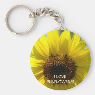 ¡AMO LOS GIRASOLES! Flor de Sun de los regalos del Llavero