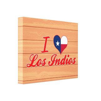 Amo Los Indios, Tejas Impresión En Lona