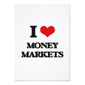 Amo los mercados de valores invitación 12,7 x 17,8 cm
