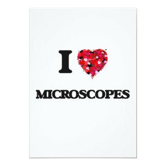 Amo los microscopios invitación 12,7 x 17,8 cm