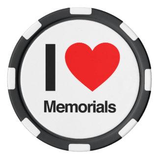 amo los monumentos fichas de póquer