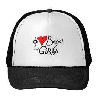 Amo los muchachos y a los chicas - meninas de gorras de camionero
