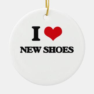 Amo los nuevos zapatos adorno redondo de cerámica