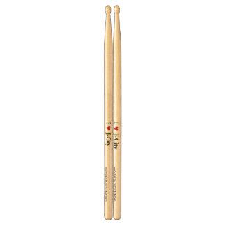 AMO los palillos del tambor de la CIUDAD de J Baquetas De Batería