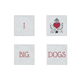 Amo los perros grandes fijados de 4 imanes