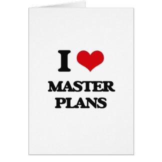 Amo los planes maestros tarjeta de felicitación
