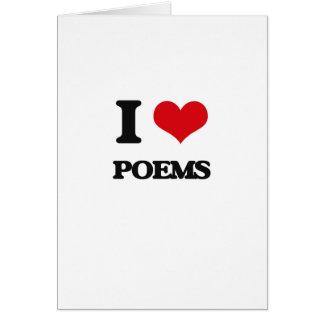 Amo los poemas tarjeta de felicitación