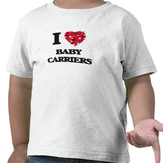 Amo los portadores de bebé camiseta