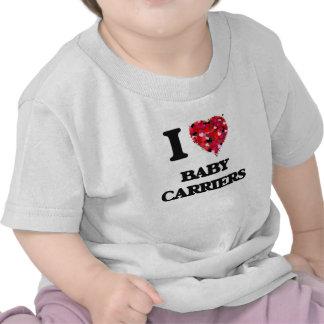 Amo los portadores de bebé camisetas
