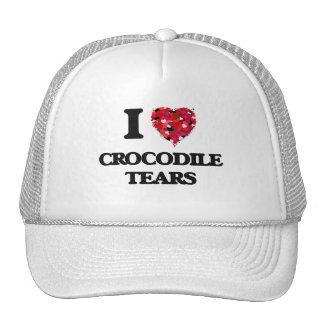 Amo los rasgones de cocodrilo gorro