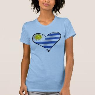 Amo los regalos uruguayos del corazón de Uruguay Camiseta