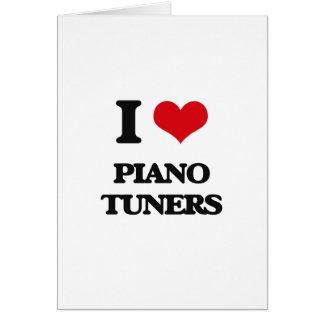 Amo los sintonizadores de piano tarjetón
