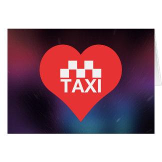 Amo los taxis tarjeta de felicitación