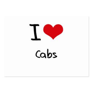 Amo los taxis tarjetas de visita