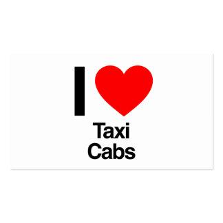 amo los taxis plantilla de tarjeta personal