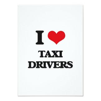 Amo los taxistas invitación 12,7 x 17,8 cm