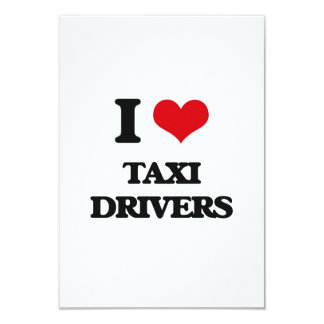 Amo los taxistas invitación 8,9 x 12,7 cm
