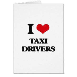 Amo los taxistas tarjetas