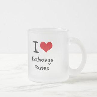 Amo los tipos de cambio tazas de café