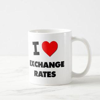 Amo los tipos de cambio taza de café