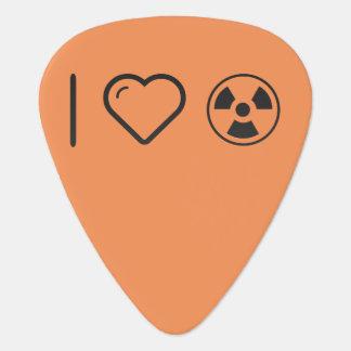 Amo los tóxicos del peligro uñeta de guitarra