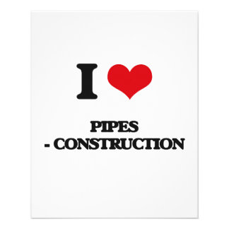 Amo los tubos - construcción tarjeta publicitaria