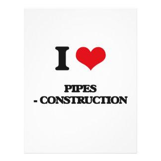 Amo los tubos - construcción flyer personalizado