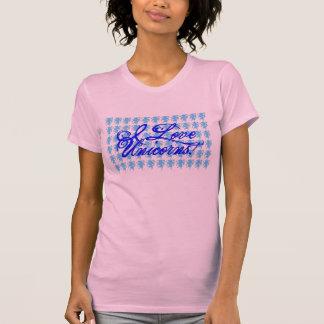 Amo los unicornios - azul camiseta