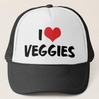 Amo los Veggies del corazón - amante de la comida Gorra