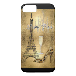 Amo los zapatos de la moda de la torre Eiffel de Funda Para iPhone 8/7