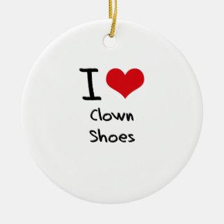 Amo los zapatos del payaso ornamento de reyes magos