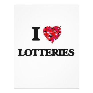 Amo loterías folleto 21,6 x 28 cm