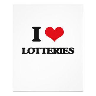 Amo loterías tarjeta publicitaria