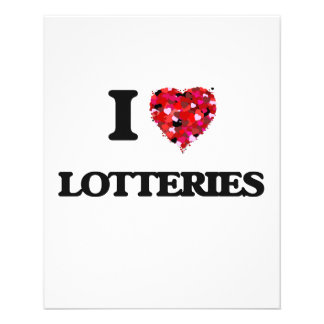 Amo loterías folleto 11,4 x 14,2 cm