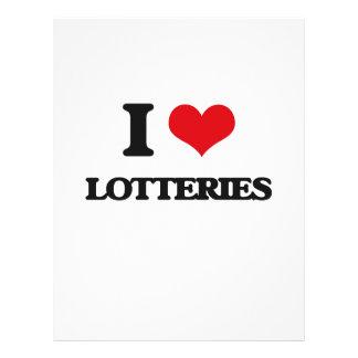 Amo loterías tarjetas informativas