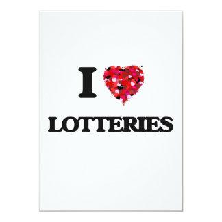 Amo loterías invitación 12,7 x 17,8 cm