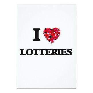 Amo loterías invitación 8,9 x 12,7 cm
