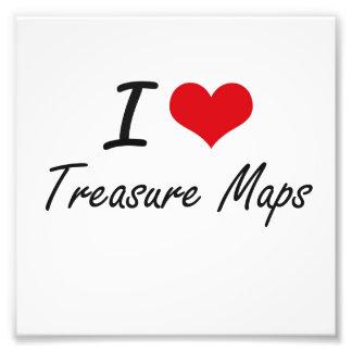 Amo mapas del tesoro fotografía