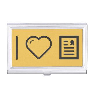 Amo marcos del diploma caja de tarjetas de negocios