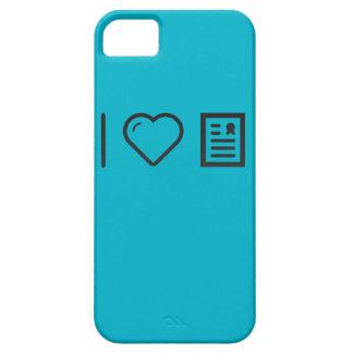 Amo marcos del diploma iPhone 5 Case-Mate fundas