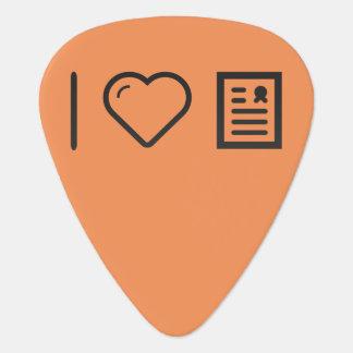 Amo marcos del diploma púa de guitarra