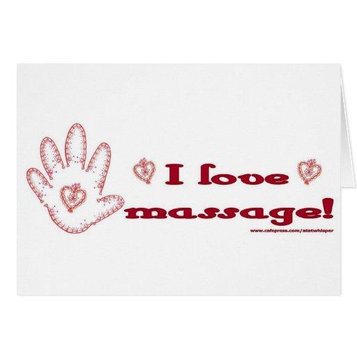 ¡Amo masaje! Tarjetón