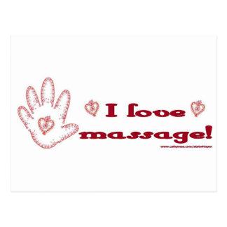 ¡Amo masaje! Postal