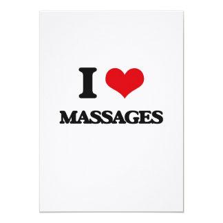 Amo masajes invitación 12,7 x 17,8 cm